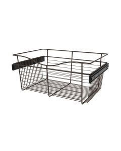 Pull-Out Closet Basket, 24W x 16D x 11H Oil Rubbed Bronze CB-241611ORB-1