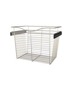 Pull-Out Closet Basket, 24W x 16D x 18H Satin Nickel CB-241618SN-1