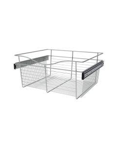 Pull-Out Closet Basket, 24W x 20D x 11H Chrome CB-242011CR-1