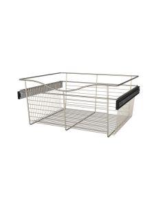 Pull-Out Closet Basket, 24W x 20D x 11H Satin Nickel CB-242011SN-1