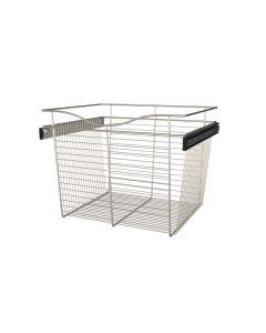 Pull-Out Closet Basket, 24W x 20D x 18H  Satin Nickel CB-242018SN-1