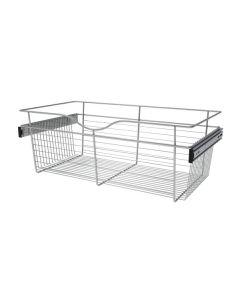 Pull-Out Closet Basket, 30W x 16D x 11H Chrome CB-301611CR-1