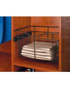 Pull-Out Closet Baskets, 18W x 16D x 18H Chrome