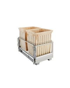 White Double Wire Hamper with Rev-A-Motion™ CH-241419-RM-211