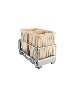 Silver Double Wire Hamper with Rev-A-Motion™ CH-241419-RM-217