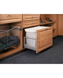 Grey Double Wire Hamper with Rev-A-Motion™ Silver