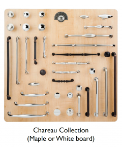 Top Knobs Chareau Collection Display Board on Maple