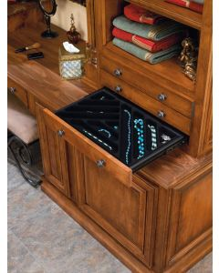 """24"""" x 14"""" Side Mount Jewelry Drawer with Slides Black"""