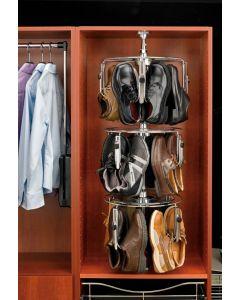 3 shelf Men's Shoezen with Shaft  Chrome CLSZ-M3-55-1