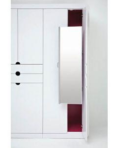 Pullout Closet Mirror Satin Nickel