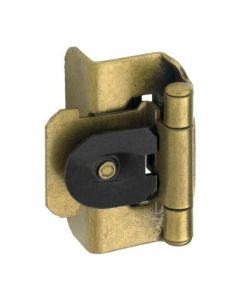 """Antique Brass Double Demountable 1/2"""" Overlay Hinge by Amerock sold as Pair, SKU: CMR8704AE"""