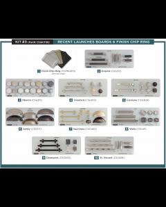 Amerock Kit 3 Display Board Kit on Gray