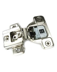 "1/2"" Overlay Concealed Hinge Salice 106° Opening Knock-in (dowels) Soft-close Compact 1 Piece PN: CUR37D9R"