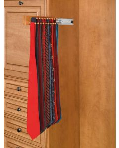 "16"" maple tie rack (natural) - side mount"