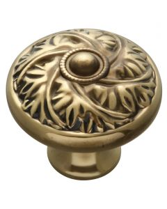 Antique Brass Knob by Keeler Cabinet sold in Each - D26-07