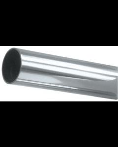 "8' Chrome Steel Closet Rod Round 1"" Diameter"