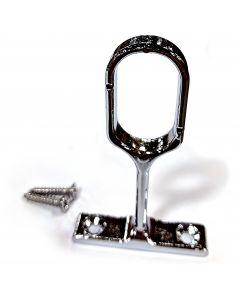 Chrome Metal Closet Rod Center Support 15MMx30MM