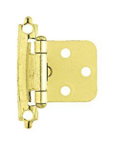 "Brass Plated 1-29/32"" [48.26MM] Self-Closing Hinge by Liberty - H0103BV-PB-O2"