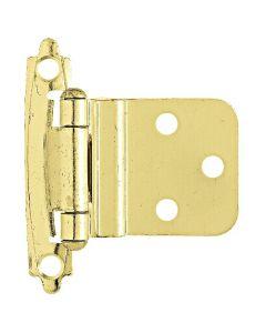 "Brass Plated 2-13/32"" [62.00MM] Self-Closing Hinge by Liberty - H0104AC-PB-O2"
