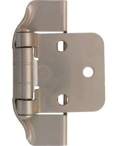 "Satin Nickel 1-11/16"" [43.00MM] Semi-Wrap Hinge by Liberty sold as Pair - H01915C-SN-O"
