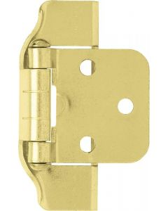 "Brass Plated 1-11/16"" [43.00MM] Semi-Wrap Hinge by Liberty - H01915V-PB-O"