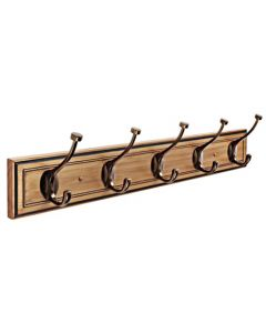 "Honey Pine / Caramel Bronze 27-1/8"" [689.10MM] Hook Rail by Amerock sold in Each - H55662-HCBZ"