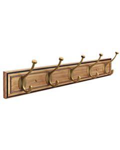 "Honey Pine / Gilded Bronze 27-1/8"" [689.10MM] Hook Rail by Amerock sold in Each - H55662-HGB"