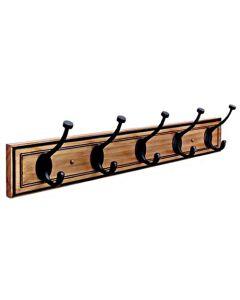 "Honey Pine / Oil-Rubbed Bronze 27-1/8"" [689.10MM] Hook Rail by Amerock sold in Each - H55662-HORB"
