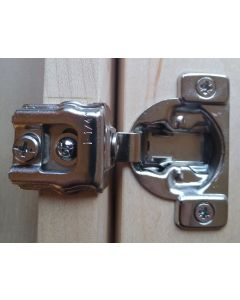 """Sel Close, Compact, 1-1/4"""" Overlay, Face Frame Hinge, 105-degree opening, 7/16"""" cup depth, Wood Screw mount"""