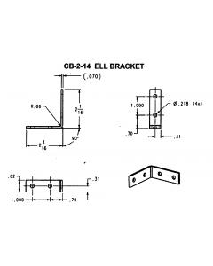 """ELL Corner Brace 2""""X2""""X5/8"""" Raw Steel - JH-CB-2-14"""