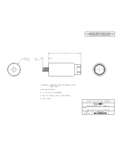 "61752HF60T5 6"" Stainless Steel Thru Stud 2000 lb  Leg"