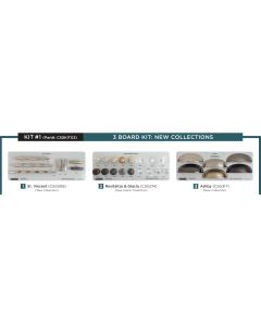 Amerock 3 Display Board Kit on Gray