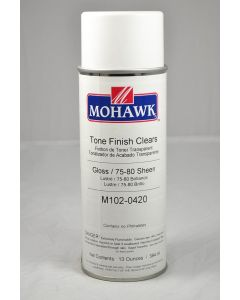 Mohawk Tone Finish Lacquer Aerosol 75-80 Sheen Clear Gloss 13 Ounces
