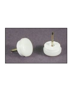 """Furniture Glide White Shock and Sound absorbing Nylon Round Nail in 7/8"""" Box 100 - m903-6173"""