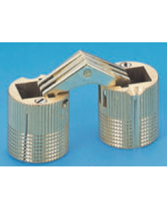 """Brass 1/2"""" (12MM) Mortise Cylinder Hinge"""