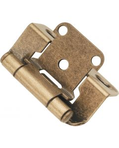 Antique Brass Semi-Wrap Hinge by Hickory Hardware sold in Pair - P2710F-AB