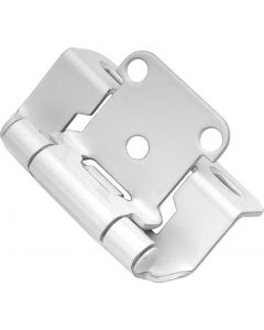 White Powder Coat Semi-Wrap Hinge by Hickory Hardware sold in Pair - P2710F-W2