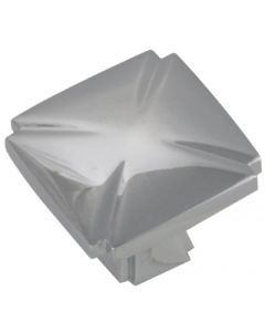 """Chrome 1-3/16"""" [30.00MM] Square Knob by Hickory Hardware sold in Each - P3230-CH"""