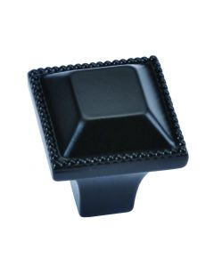 """Oil Rubbed Bronze 1"""" [25.40MM] Square Knob by Hickory Hardware sold in Each - P3503-10B"""