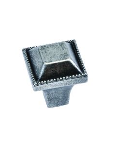 """Black Nickel Vibed 1"""" [25.40MM] Square Knob by Hickory Hardware sold in Each - P3503-BNV"""