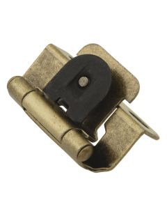 "Antique Brass Single Demountable 1/2"" Overlay Hinge by Hickory Hardware, SKU: P5313-AB"