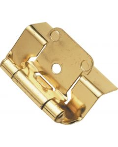 Polished Brass Semi-Wrap Hinge by Hickory Hardware sold in Pair - P5710F-3
