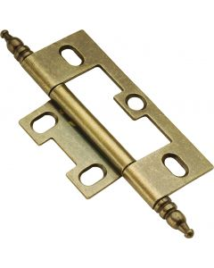Antique Brass Self-Mortise Hinge by Hickory Hardware sold in Pair - P8293-AB