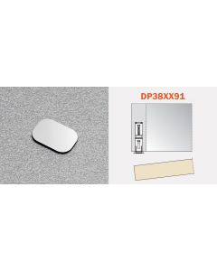 Strike Plate with Pressure Sensative Adhesive for Salice Magnetic Release Device and Retaining Catches - dp38xx91
