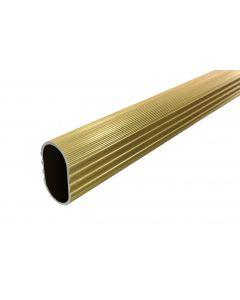 8' Brass Aluminum Closet Rod Oval 15MMx30MM