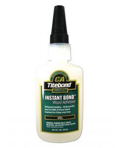 Franklin International Titebond Instant Bond Instant CA Glue Gel Wood CA Glue 2 Oz Translucent Ethyl Cyanoacrylate