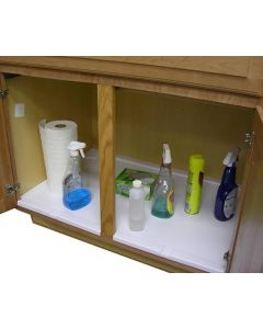 "39"" - 55"" Adjustable Under Sink Drip Tray - White"