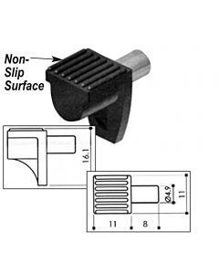 Shelf Pin Rubber Clip / Metal Pin 5mm Clear Finish Bag 100 PN: W-SP-5MMC/SOFT